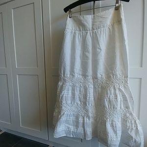 Beautiful J Jill white eyelet skirt sz 2